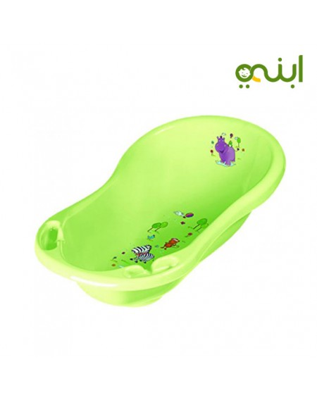 Keeeper Carrycot Maria Hippo Kids Bath Tub with Plugs, PurpleFrom birth to two years