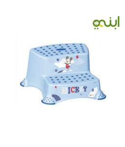 Double Step Stool With Anti-Slip-Function - Light Blue - keeper brand