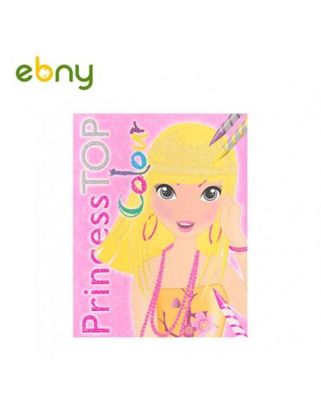 تلوين ملابس الأميرات - الكتاب الأول لطفلتك الأنيقة
