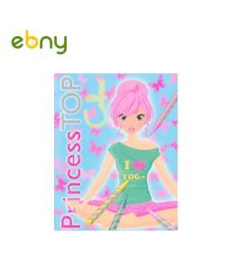 تلوين ملابس الأميرات - الكتاب الثانى للفتيات
