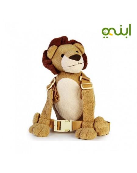 حزام أمان للطفل ماركة جولد باغ على شكل أسدالمستلزمات