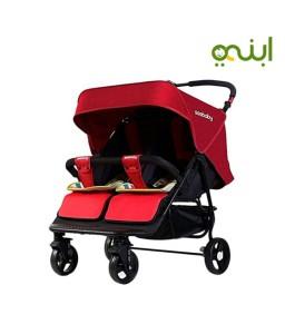عربة أطفال مزدوجة للتوأمن رائعة وعملية من سي بيبي T22 - ألوان متعددة