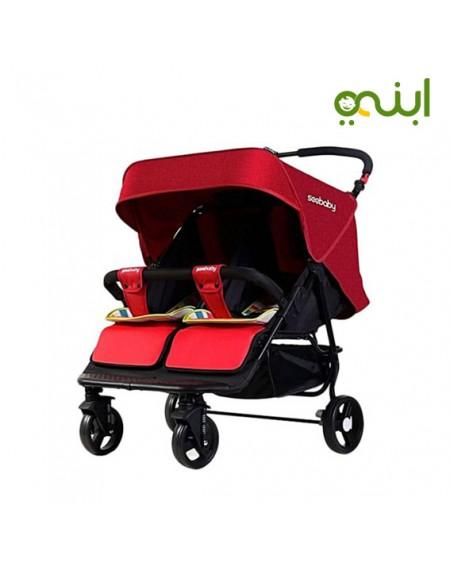 عربة أطفال مزدوجة للتوأمن رائعة وعملية من سي بيبي T22 - ألوان متعددةالمستلزمات