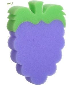 اسفنجة استحمام الأطفال من لا فروتا، ارجواني اخضر