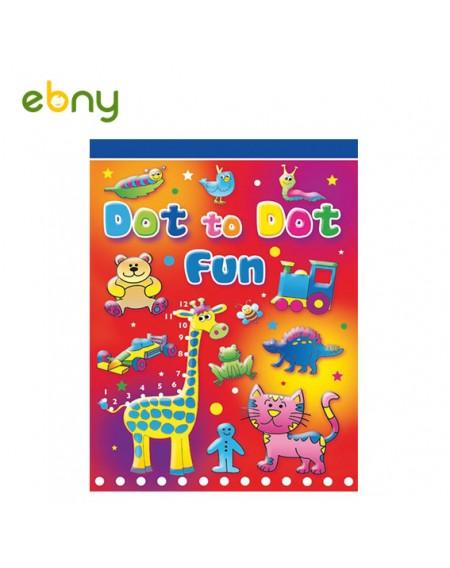لوح تلوين وتوصيل نقاط لأطفالك في سن الحضانة
