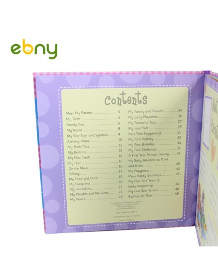 My Baby Book chart all your childs details from birth to five years