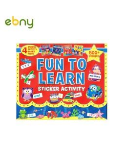 حقيبة متعة التعلم مع أكثر من 1000 ملصق