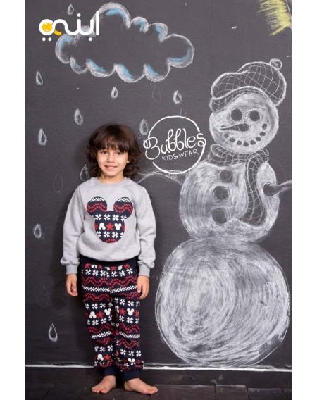 بيجامة للأولاد لشتاء دافئ