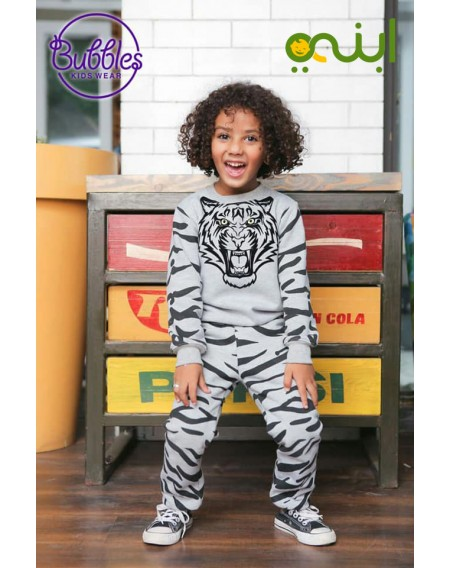 بيجامة شتوية بتصميم النمر للأولاد