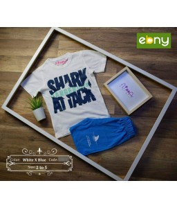 boys pijamas for your child's summer style with a shark