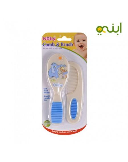 طقم فرشاة ومشط شعر للاطفال حديثي الولادة- 4770 من نوبي