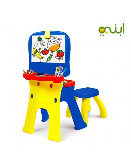 كرايولا ثلاثية سبورة و مكتب و معرض للأطفال