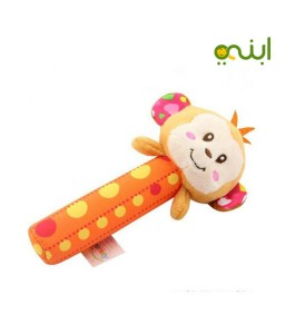 Baby Hand Rattle Toy Doll-Monkey
