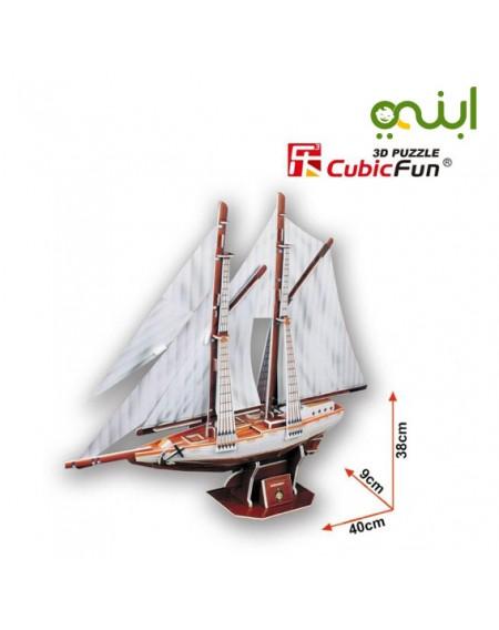 لغز مجسم سفينة مميزة من كيوبك فنالعاب