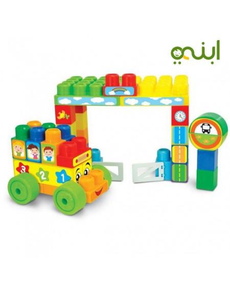 لعبة مكعبات ملونة للأطفال موقف حافلاتالعاب