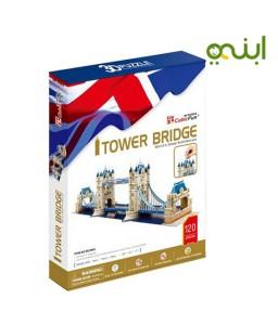 لغز مكعب برج جسر ثلاثي الأبعاد للأطفال