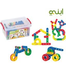 مكعبات كليك كلاك 96 قطعة لعبة لطفلك