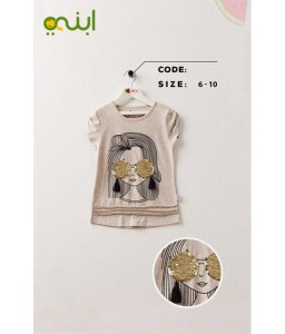 Attractive T shirt for girls in the summer - golden