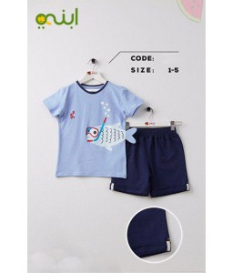 Baby pajamas for your children with funny designs – light blue