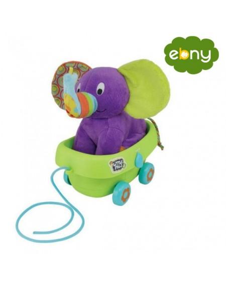 عربة جر الفيل الناعمة لطفلك الرضيع مليئة بالالحانمن الولاده الي عمر سنتين