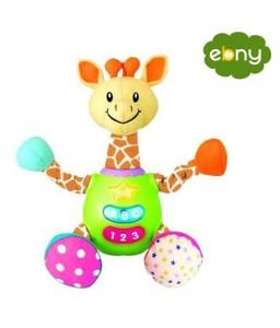 لعبة الزرافة المرحة بالصوت والضوء لطفلك الرضيع