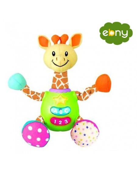لعبة الزرافة المرحة بالصوت والضوء لطفلك الرضيعمن الولاده الي عمر سنتين