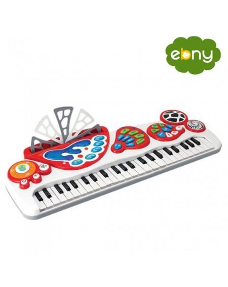 لعبة مميزة لطفلك بيانو الكتروني ينير ويضئالعاب