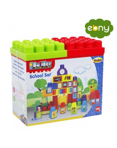 علمي اولادك البناء لعبة بناء المدرسة المميزة من وين فانالعاب